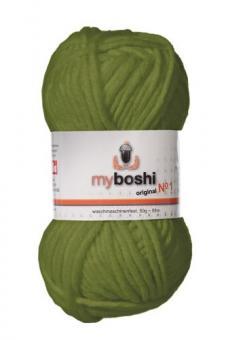 Myboshi original No. 1, olive Garn 50g