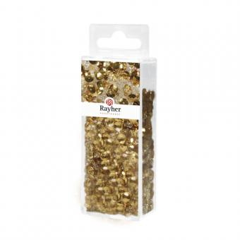 Rayher Pailletten-,Glasperlenmix und Draht, gold, 80g Mix u. Draht