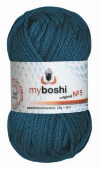Myboshi Wolle No. 5, 25g petrol 554