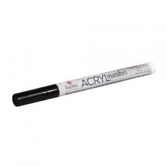 Rayher Acryl-Marker, schwarz, Rundspitze 1-2 mm, mit Ventil