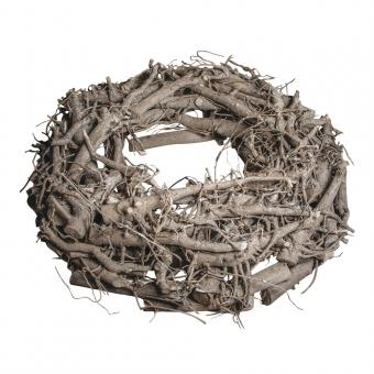 Rayher Weidenkranz, weiß gewischt, 30cm ø, 8cm