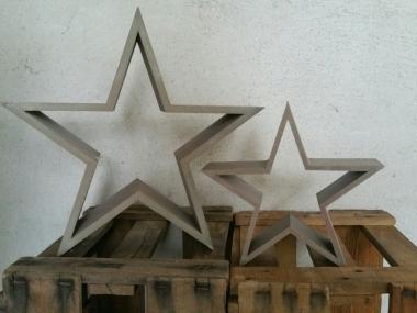 Deko Holzstern, Rahmen offen taupe 20cm