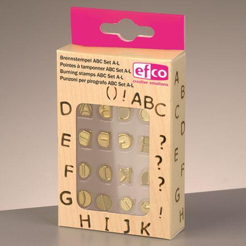 Efco Brennstempel Set für 1840001 ABC Set A-L 16-teilig