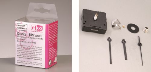 Efco Quarzuhrwerk für Zifferblatt bis 5mm