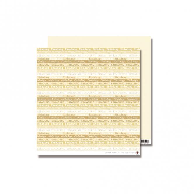 """Rayher Scrapbooking-Papier: """"Einladung"""", elfenbein, 30,5x30,5"""
