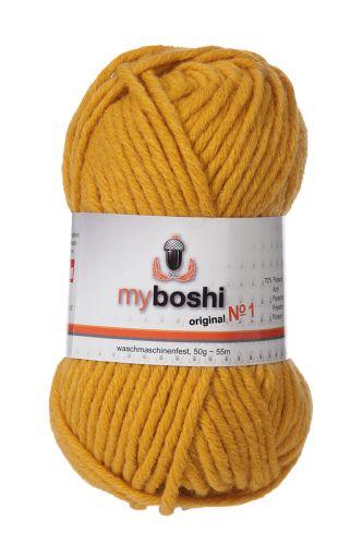 Myboshi original No. 1, senf Wolle, Garn 50g