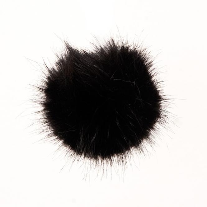 Kunstfell Pompon 10cm schwarz Rico Design