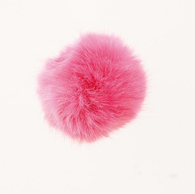 Kunstfell Pompon 10cm pink Rico Design
