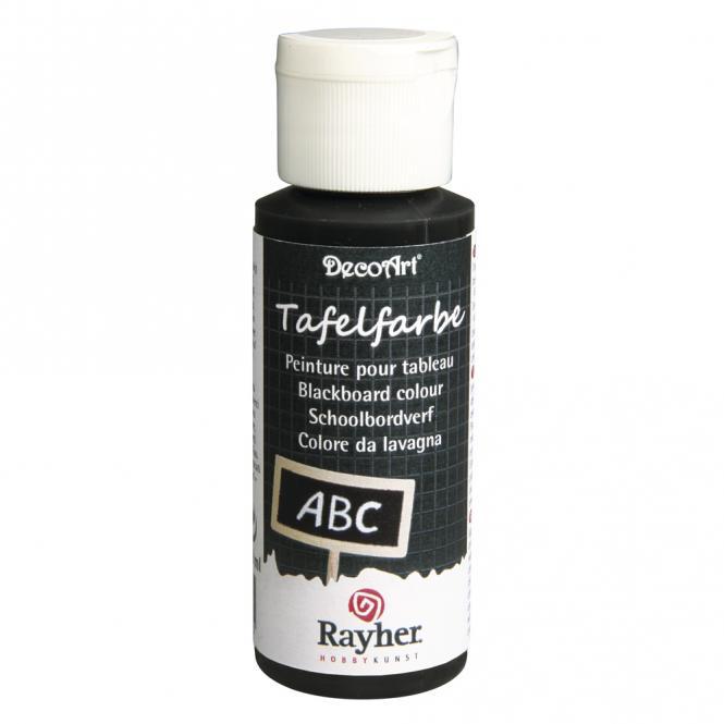 Rayher Tafelfarbe schwarz, Flasche 59 ml