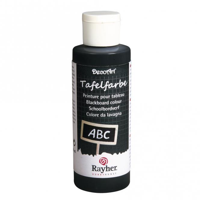 Rayher Tafelfarbe schwarz, Flasche 118ml