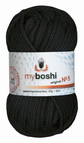 Myboshi Wolle No. 5, 25g schwarz 596