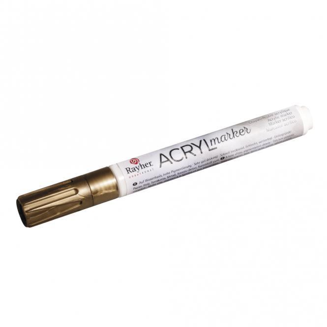 Rayher Acryl-Marker, gold, Rundspitze 2-4 mm, mit Ventil