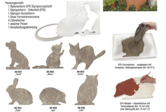 basteltrends betonform gie form hund inkl zubeh r. Black Bedroom Furniture Sets. Home Design Ideas